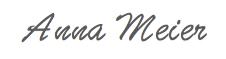 Anna Meier handwriting